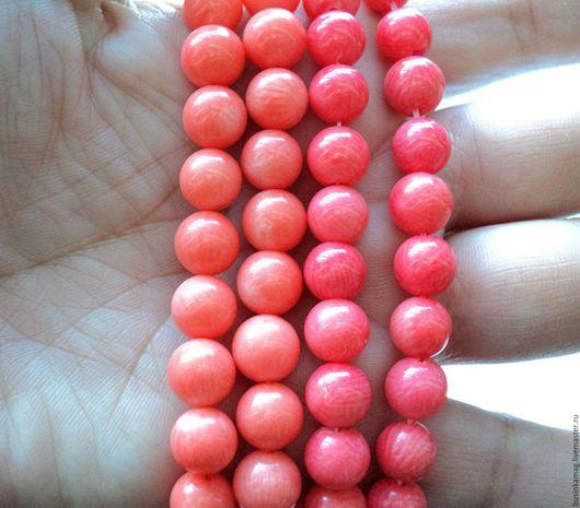 Для украшений ручной работы. Ярмарка Мастеров - ручная работа. Купить Коралл натуральный шарики 9,5мм, 2 цвета. Handmade.