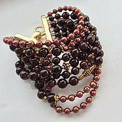 Украшения handmade. Livemaster - original item Bracelet ELIXIR of HER YOUTH garnet and pearls. Handmade.