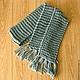 Винтажная одежда и аксессуары. Английский теплый шарф из акрила, ручная вязка. Натуральный винтаж. Интернет-магазин Ярмарка Мастеров.