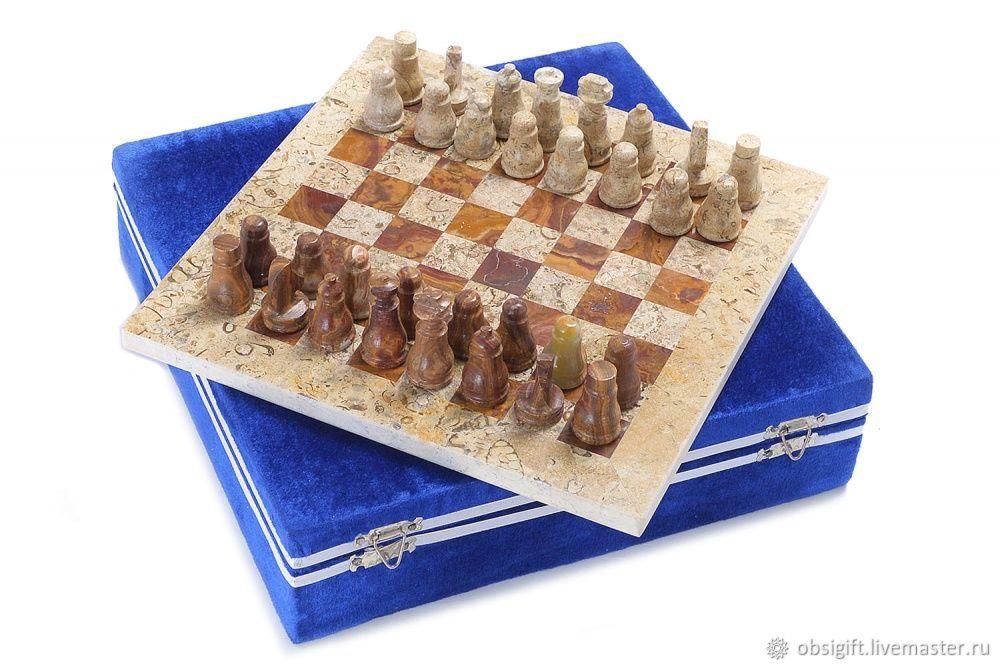 Jasper and Shell stone chess 26, PakShah, Chess, St. Petersburg,  Фото №1