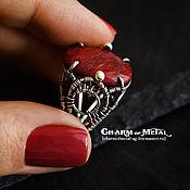 """Украшения ручной работы. Ярмарка Мастеров - ручная работа """"Brunehilde"""" Серебряное кольцо с корундом. Handmade."""