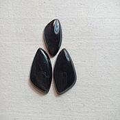 Материалы для творчества manualidades. Livemaster - hecho a mano Kaboshony: Gris obsidiana Cabochons. Handmade.