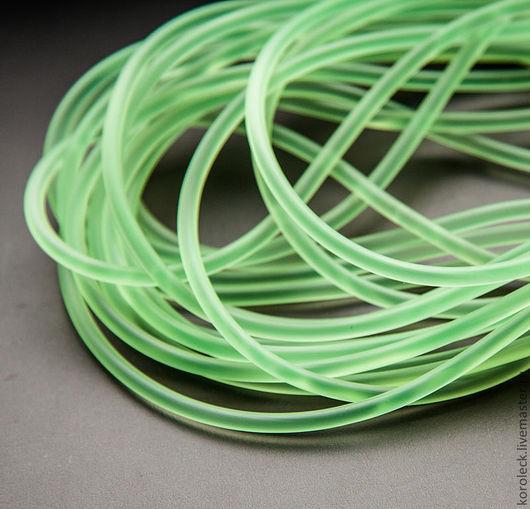 Для украшений ручной работы. Ярмарка Мастеров - ручная работа. Купить Шнур силиконовый 3 мм круглого сечения зеленый. Handmade.
