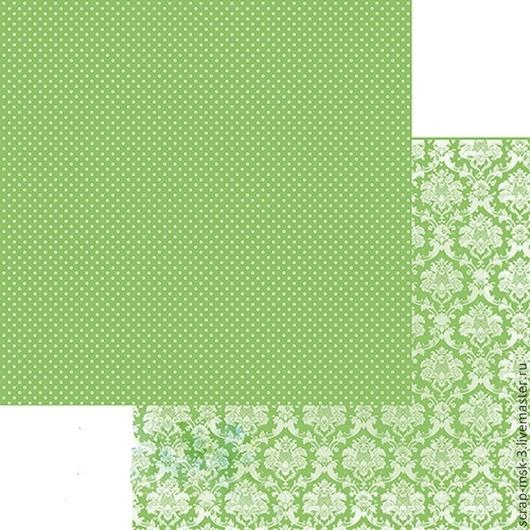 Открытки и скрапбукинг ручной работы. Ярмарка Мастеров - ручная работа. Купить Бумага для скрапбукинга по листу Светлая Зелень 324 Fleur Design. Handmade.