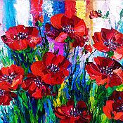 Картины и панно handmade. Livemaster - original item Picture with poppies