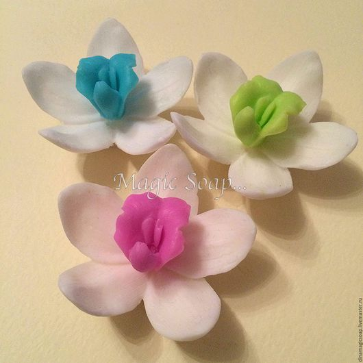 Мыло ручной работы. Ярмарка Мастеров - ручная работа. Купить мыло Цветок орхидеи. Handmade. Комбинированный, мыло в новокузнецке