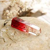 Украшения ручной работы. Ярмарка Мастеров - ручная работа 1. Кулон кристалл с травами (красный) Кровавая Мэри. Handmade.