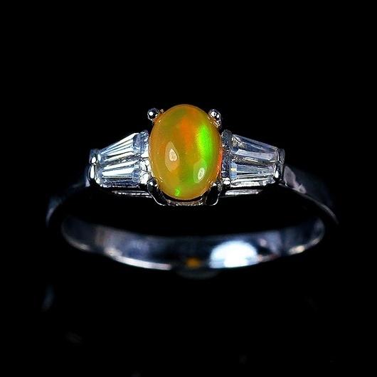 """Кольца ручной работы. Ярмарка Мастеров - ручная работа. Купить """"Мед""""  кольцо с опалом Эфиопии. Handmade. Опал, опал благородный"""