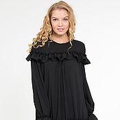 Одежда ручной работы. Ярмарка Мастеров - ручная работа Платье-туника , свободное платье, черное платье, шифоновое платье. Handmade.