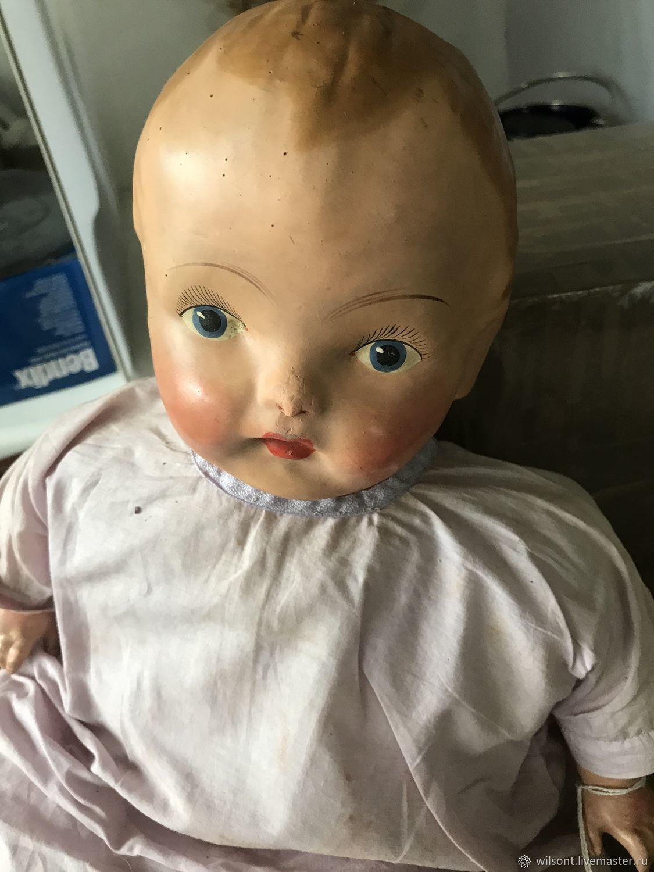 Composite doll original antique ,England (?), Vintage doll, Coventry,  Фото №1