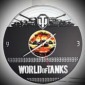Часы классические ручной работы. Ярмарка Мастеров - ручная работа Оригинальный подарок. Часы World of Tanks. Handmade.