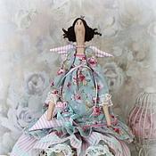 Куклы и игрушки ручной работы. Ярмарка Мастеров - ручная работа Кукла  в стиле Тильда.мятная принцесса Наталька.. Handmade.