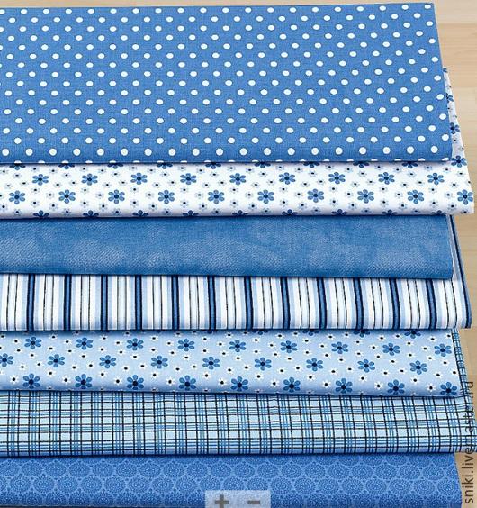 Шитье ручной работы. Ярмарка Мастеров - ручная работа. Купить Хлопок немецкий 80415 Германия. Handmade. Синий