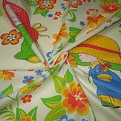 Ткани ручной работы. Ярмарка Мастеров - ручная работа Ткань для детского постельного белья. Handmade.