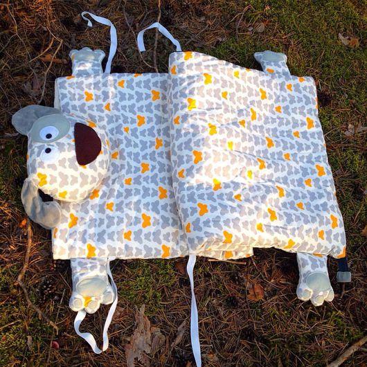 Пледы и одеяла ручной работы. Ярмарка Мастеров - ручная работа. Купить Детский спальник. Собачка. Handmade. Спальный мешок, синтепон