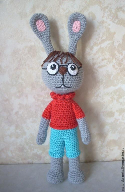 Сказочные персонажи ручной работы. Ярмарка Мастеров - ручная работа. Купить Интеллигентный Кролик из Винни-Пуха.Кролик вязаный игровой. Handmade.