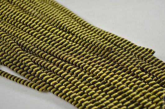 Вышивка ручной работы. Ярмарка Мастеров - ручная работа. Купить Канительный шнур, Индия. Handmade. Черный, золотой цвет, канитель