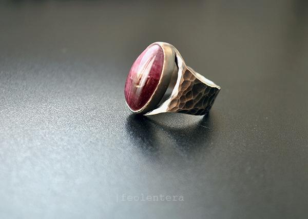 Jehanne - серебряное кольцо с турмалином (серебро 925), Кольца, Севастополь, Фото №1