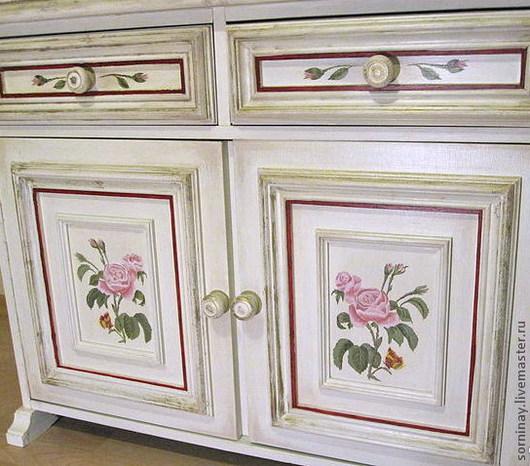 """Мебель ручной работы. Ярмарка Мастеров - ручная работа. Купить комод """"Пыльная роза"""". Handmade. Белый, мебель ручной работы"""