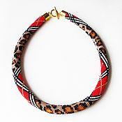 Украшения handmade. Livemaster - original item Harness from leopard on Burberry beads. Handmade.