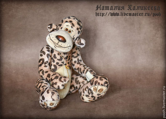 """Мишки Тедди ручной работы. Ярмарка Мастеров - ручная работа. Купить Авторская игрушка  Леопард """"ЛЕО-3"""". Handmade. Разноцветный"""