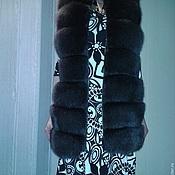 """Одежда ручной работы. Ярмарка Мастеров - ручная работа Меховой жилет из песца модель """"Мила"""" шоколад. Handmade."""