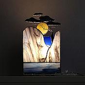 Для дома и интерьера handmade. Livemaster - original item Lamp On the rock. Stained glass lamp. Handmade.