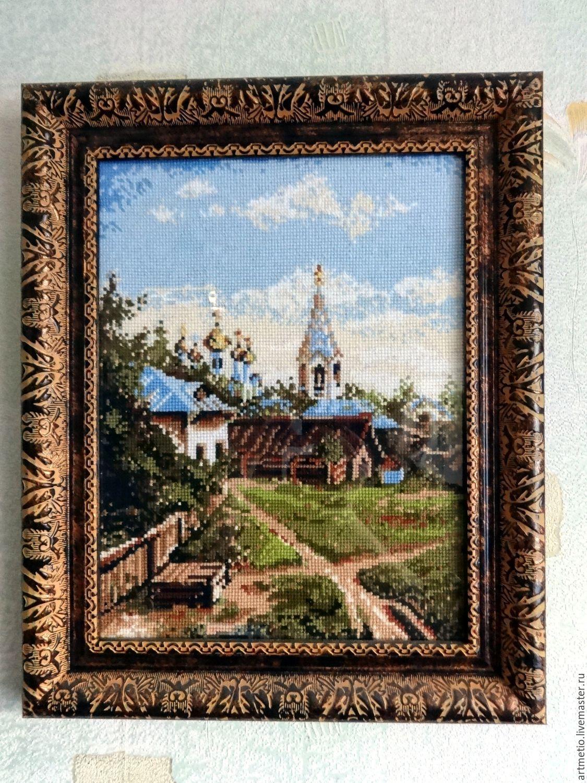 Купить вышивку крестом дворик