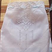 Работы для детей, handmade. Livemaster - original item Pouch for baptismal set using hemstitch and embroidery. Handmade.