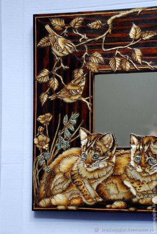 "Зеркало ""Дикие кошки"""