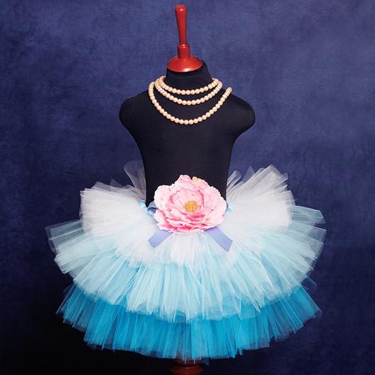 """Одежда для девочек, ручной работы. Ярмарка Мастеров - ручная работа. Купить """"Мечты Принцессы"""" голубая юбка-пачка из фатина. Handmade."""