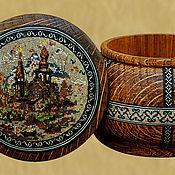 Для дома и интерьера ручной работы. Ярмарка Мастеров - ручная работа Шкатулка с инкрустацией деревянной мозаикой, дуб. Handmade.