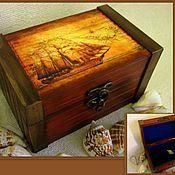 Для дома и интерьера ручной работы. Ярмарка Мастеров - ручная работа Морской сундучок. Handmade.