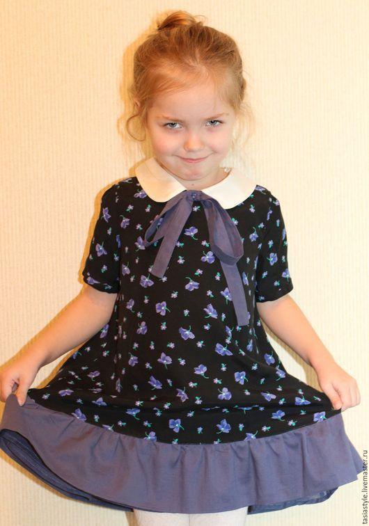 Одежда для девочек, ручной работы. Ярмарка Мастеров - ручная работа. Купить Нарядное платье для девочки ручной работы. Handmade. Черный