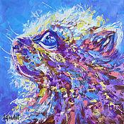 Картины и панно handmade. Livemaster - original item Painting with a cat
