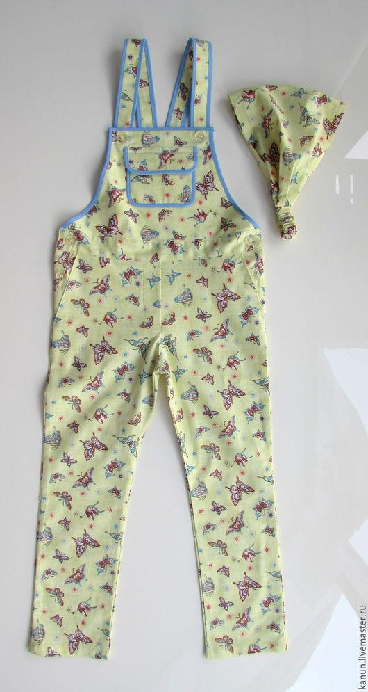 """Одежда для девочек, ручной работы. Ярмарка Мастеров - ручная работа. Купить Комбинезон для девочки """"Бабочка"""". Handmade. Салатовый, комбинезон детский"""