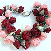 Украшения handmade. Livemaster - original item Summer love. bracelet. fabric flowers. Handmade.