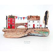 """Для дома и интерьера ручной работы. Ярмарка Мастеров - ручная работа Морская композиция """"День рыбака"""" driftwood. Handmade."""