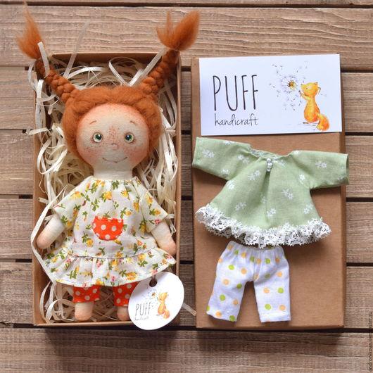 Коллекционные куклы ручной работы. Ярмарка Мастеров - ручная работа. Купить Девулька-крохотулька. Handmade. Кукла в подарок, кукла для игры