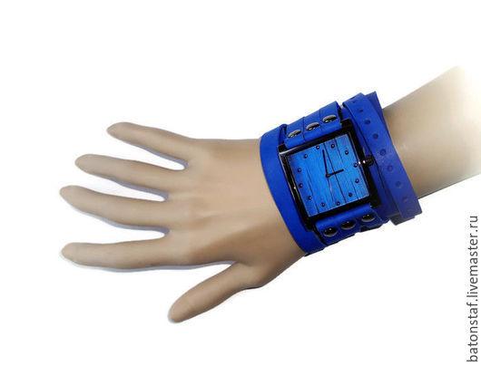 """Часы ручной работы. Ярмарка Мастеров - ручная работа. Купить Часы наручные синие - """"Часовщик рисовал"""".. Handmade. Наручные часы"""