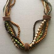 "Украшения handmade. Livemaster - original item Wooden necklace ""Dreadlocks"". Handmade."