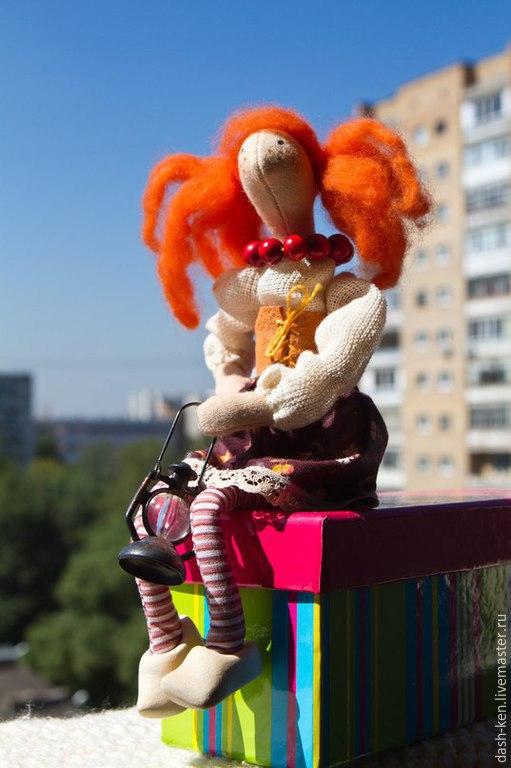 Куклы Тильды ручной работы. Ярмарка Мастеров - ручная работа. Купить Тильда-Матильда. Handmade. Рыжий, маленькая игрушка
