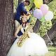 Одежда и аксессуары ручной работы. Кремовое свадебное платье с пышной фатиновой юбкой.. Ирина  - свадебные платья и корсеты (master-magda). Ярмарка Мастеров.