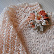 """Одежда ручной работы. Ярмарка Мастеров - ручная работа Пуловер """"Сладость персика"""" персиковый кремовый. Handmade."""