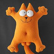 Куклы и игрушки ручной работы. Ярмарка Мастеров - ручная работа Мягкая игрушка кот Саймон рыжий. Handmade.