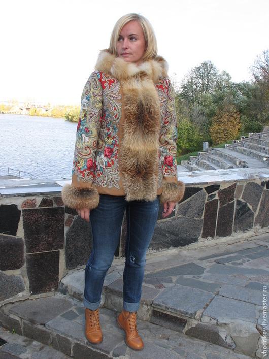 """Верхняя одежда ручной работы. Ярмарка Мастеров - ручная работа. Купить Куртка """" Русские узоры""""-Тайна сердца. Handmade."""