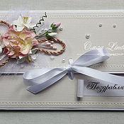 Свадебный салон ручной работы. Ярмарка Мастеров - ручная работа Свадебная открытка-конверт. Handmade.