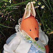 Куклы и игрушки ручной работы. Ярмарка Мастеров - ручная работа Лиса Алисия игрушка текстильная. Handmade.