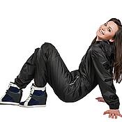Одежда ручной работы. Ярмарка Мастеров - ручная работа Комбинезон дождевик женский The Dustcover Grace цвет черный. Handmade.