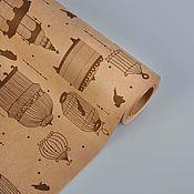 """Материалы для творчества ручной работы. Ярмарка Мастеров - ручная работа Бумага крафт """"Клетки"""". Handmade."""